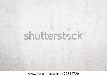 White Exterior Concrete Wall - Shutterstock ID 497614720