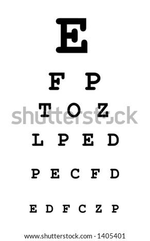 White Eye Test Chart Ez Canvas