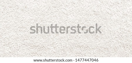 white fabric and texture concept - close up of a towel terry cloth Stockfoto ©