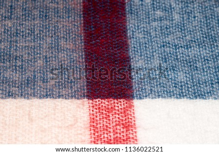 White Fabric Texture. Fabric background texture / Wool texture macro fabric / Textile material close-up #1136022521