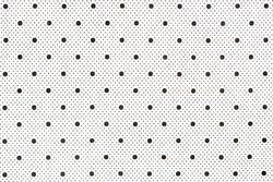 White fabric with black dots as background. Hi res