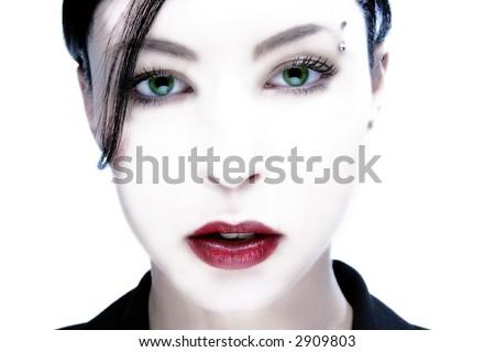 white face of black wonder lady
