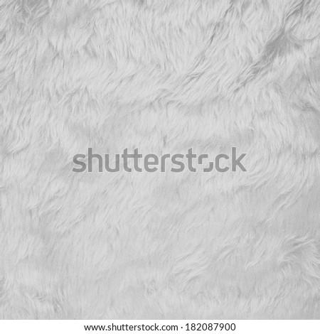 White faux fur texture background fragment