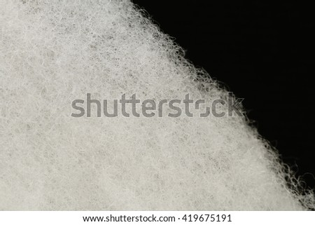 white felt fiber close up in black #419675191
