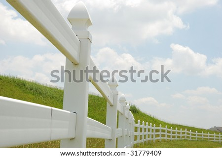 white fence - stock photo