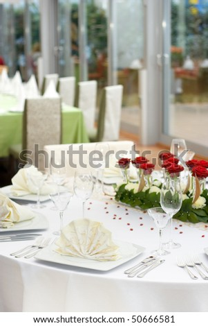 white wedding table settings. Fine Wedding Table Setting