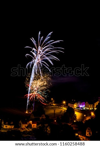 White firework. Amazing fireworks, fireworks 2019, fireworks background, fireworks event, Celebration in the town. #1160258488