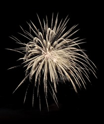 white fireworks in the night sky