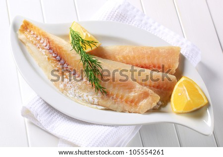 White fish fillets