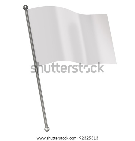 white flag isolated #92325313
