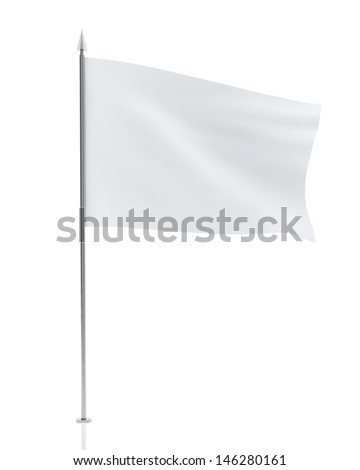 White Flag Isolated on White Background #146280161