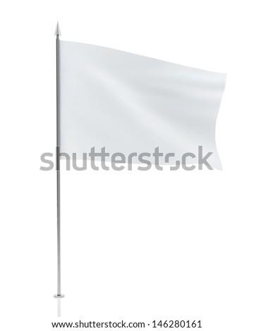 White Flag Isolated on White Background #146280161