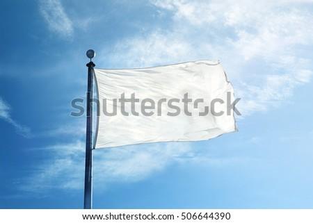 White flag on the mast