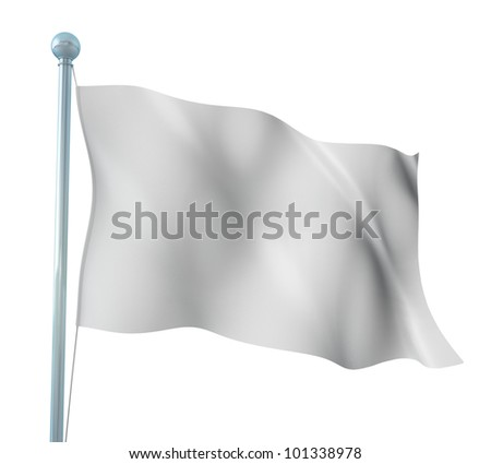 White Flag Template Detailed Render