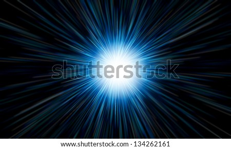 white flash on a blue backgrounds