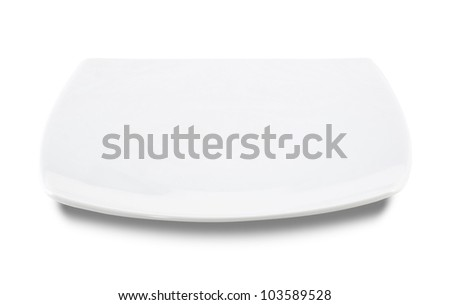 White flat plate on white background