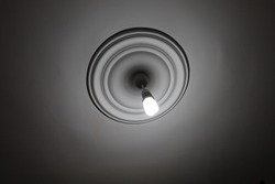 white  fluorescent ligt on the ceiling