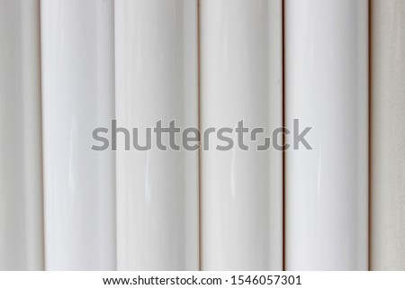 White fluorescent tubes as a background