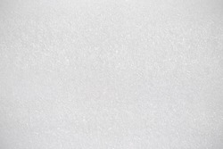 White foam board. Synthetic texture background. Detail of plastic material.