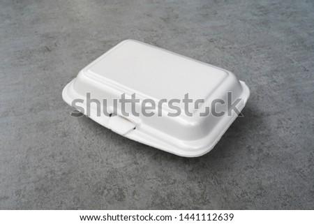 White foam box for contain food.