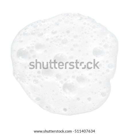 white foam bubbles texture isolated on white background