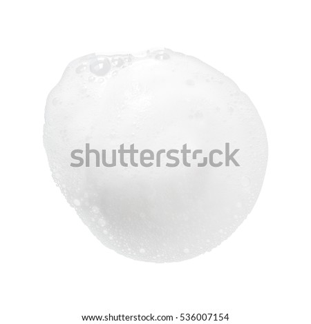 white foam bubbles texture isolated on white background #536007154