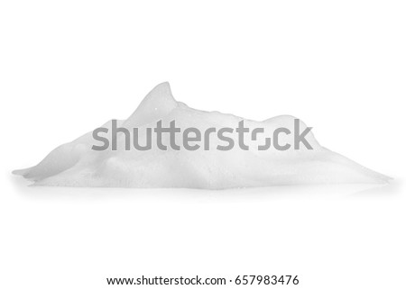 white foam bubbles texture isolated on white background #657983476