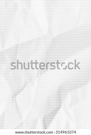White folded horizontal striped paper