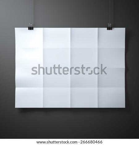 White folded  sheet of paper