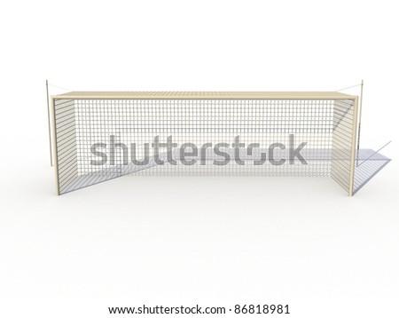 White football goals