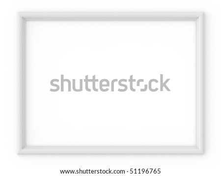 white frame isolated on white