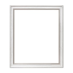 White Framework in antique style. Vintage picture frame isolated on white background.