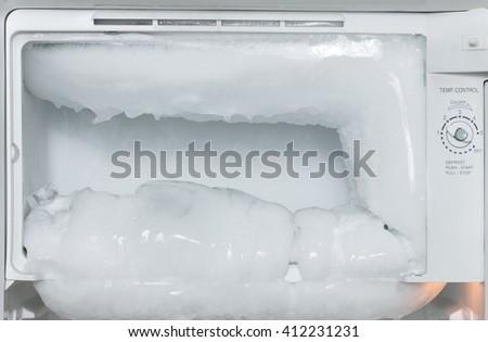 white freezer refrigerator is opened #412231231