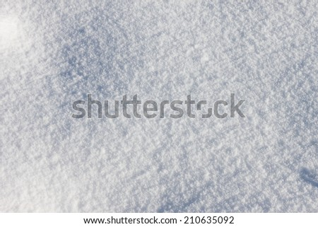 White frost snow toned in blue background