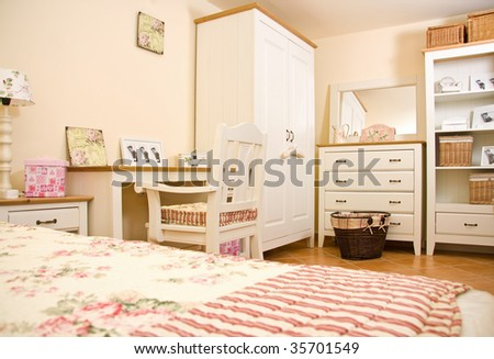 White furniture - interior