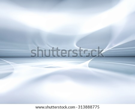 white futuristic background fractal horizon