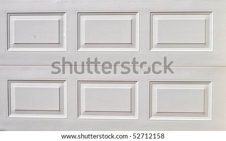white garage door texture, background - stock photo