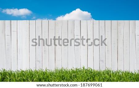 white garden fence #187699061
