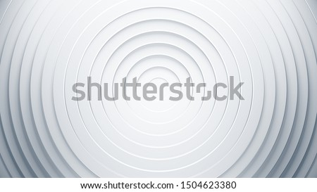 White geometric background concept. 3d circles illustration. Abstract creative texture for business template. Modern and simple radial pattern. Stock photo ©