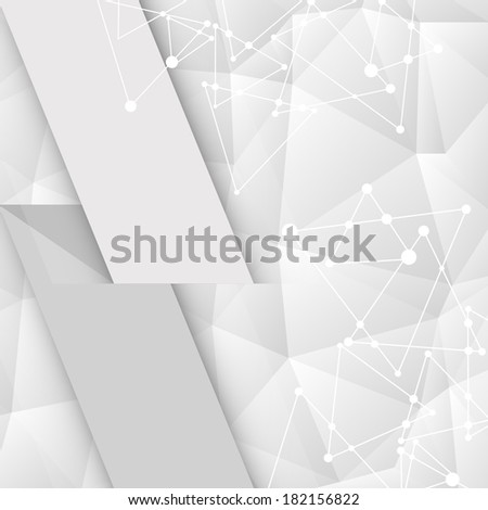 white geometric pattern with triangles and place for text #182156822