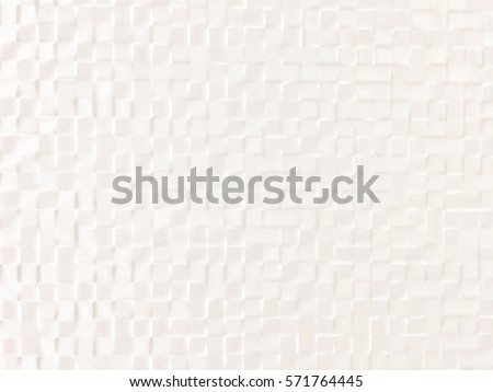white geometric square and origami texture with ceramic material for abstract background or wallpaper pattern use #571764445