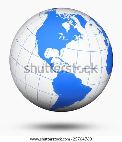White globe - stock photo