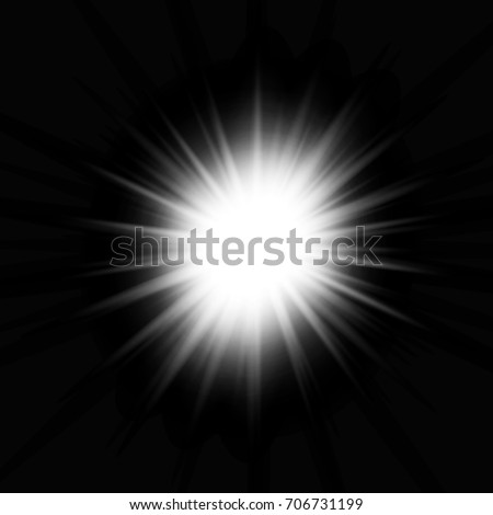 White glowing light burst explosion on the black background #706731199