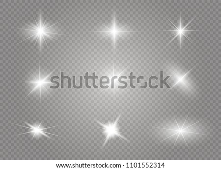 White glowing light burst explosion with transparent. Vector illustration for cool effect decoration with ray sparkles. Bright star. Transparent shine gradient glitter, bright flare. Glare texture. - Shutterstock ID 1101552314