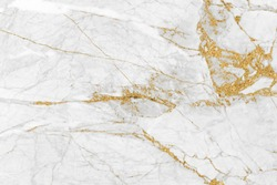 White gold marble texture pattern background with high resolution design for cover book or brochure, poster, wallpaper background or realistic business.