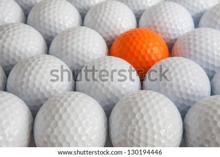 White golf balls in the box