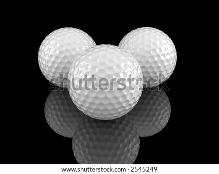 white golf balls with scratches on the surface and ground reflection