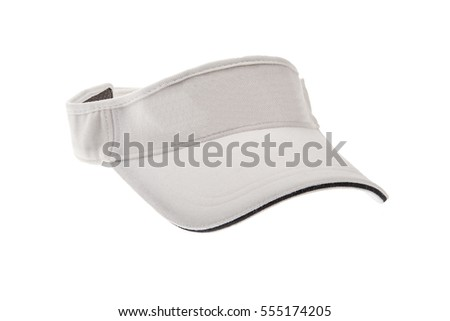 Shutterstock White golf visor for man or woman on white background