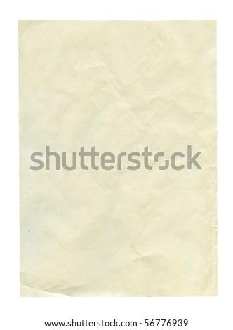White grainy textured paper isolated on white - stock photo