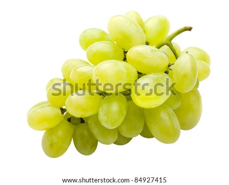 White grape fully isolated